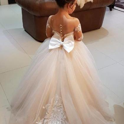 2018 Flower Girl Dress,Long Sleeve ..