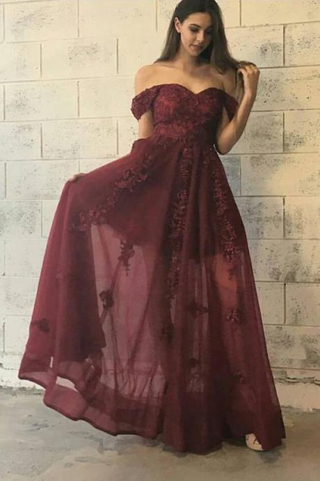prom dress,burgundy prom party dress,sexy off shoulder party dresses,prom dresses,party dresses,burgundy party dresses