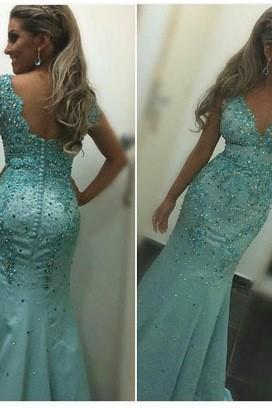 New Design Charming Sexy Prom Dress,Beading Prom Dress,Mermaid Prom Dress,Satin Prom Dress, High Quality Evening Dresses