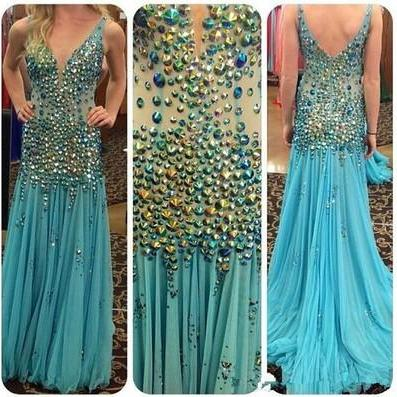 Charming Prom Dress,Beading Prom Dress,Mermaid Prom Dress,Chiffon Prom Dress