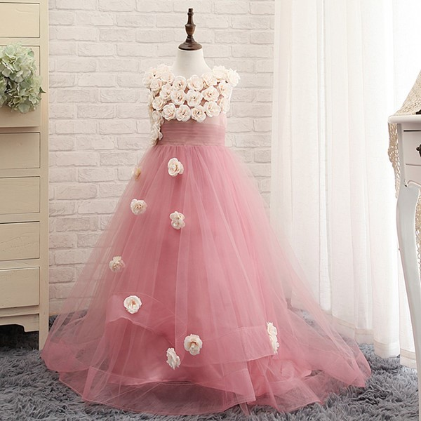 2018 New Beautiful Girl Pageant Kids Bridesmaid Special Occasion For Weddings High Quality A-Line Flower girls dress